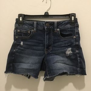 American Eagle outfitters hi rise shorties size 0